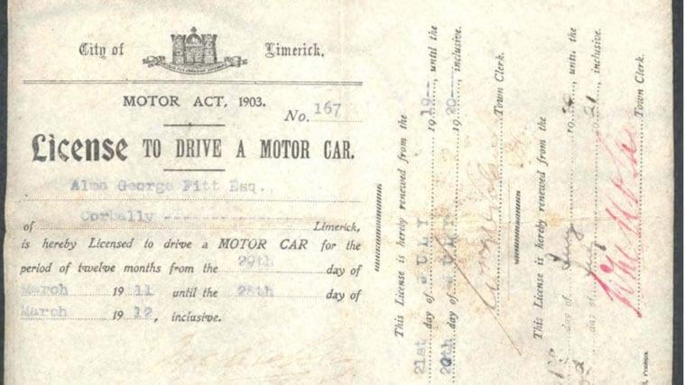An original UK driving licence