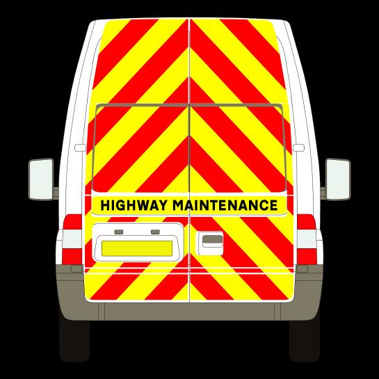 Vehicle chevron kit template