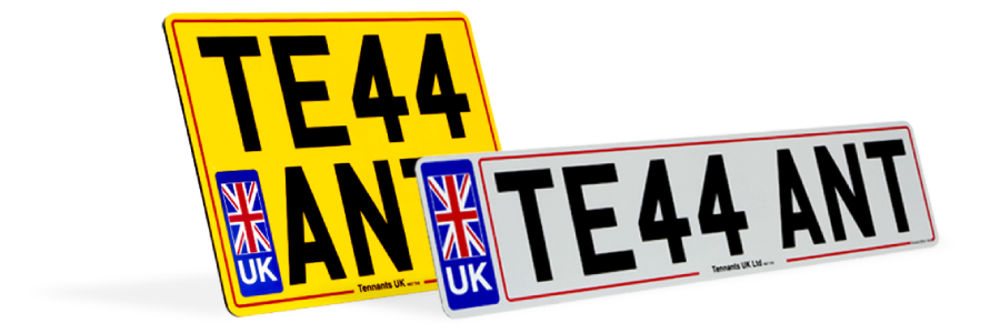 Colour number plates from trade number printing
