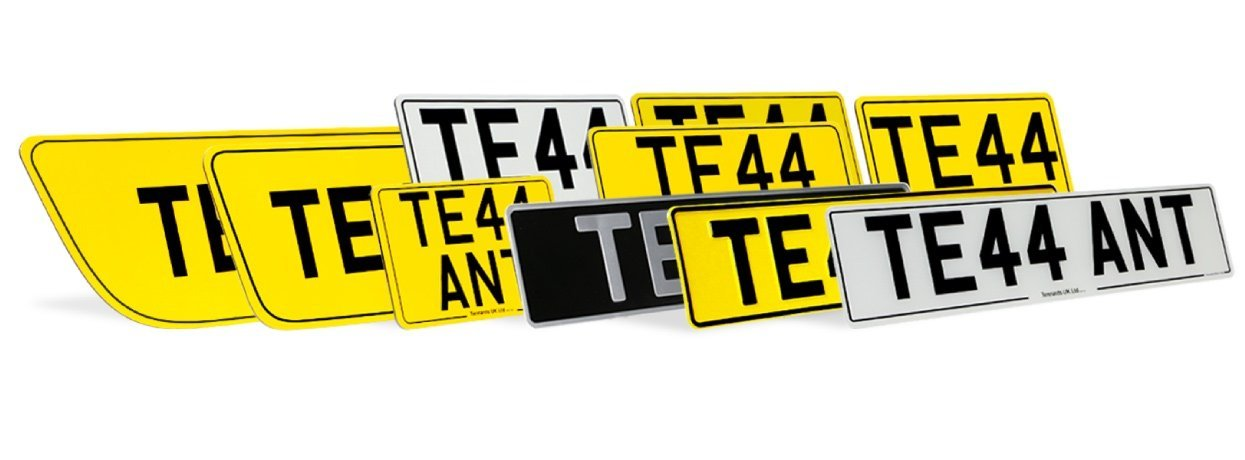Professional number plates