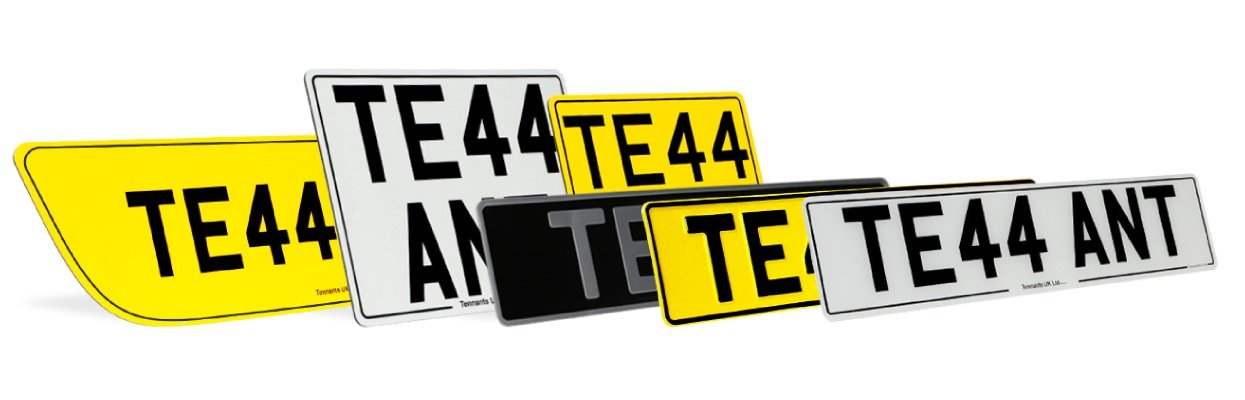Selection possible when number plate printing