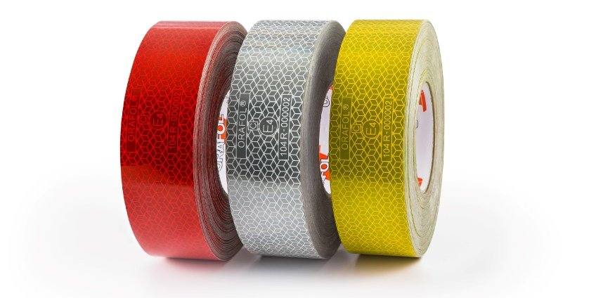 Reflective conspicuity marking tape rolls