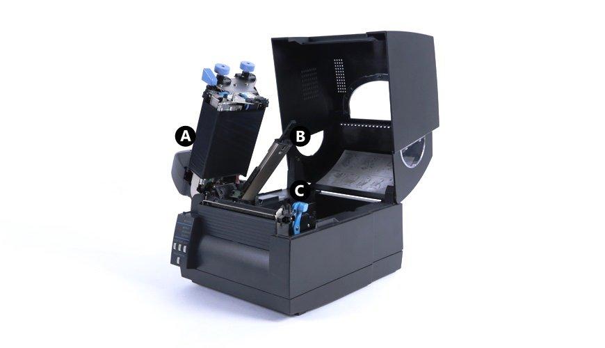 Lift the CLSs621 print unit and sensor arm