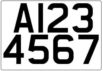 A Trailer Plate