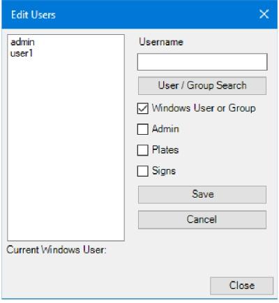 LG Plates - Tick Windows User or Group