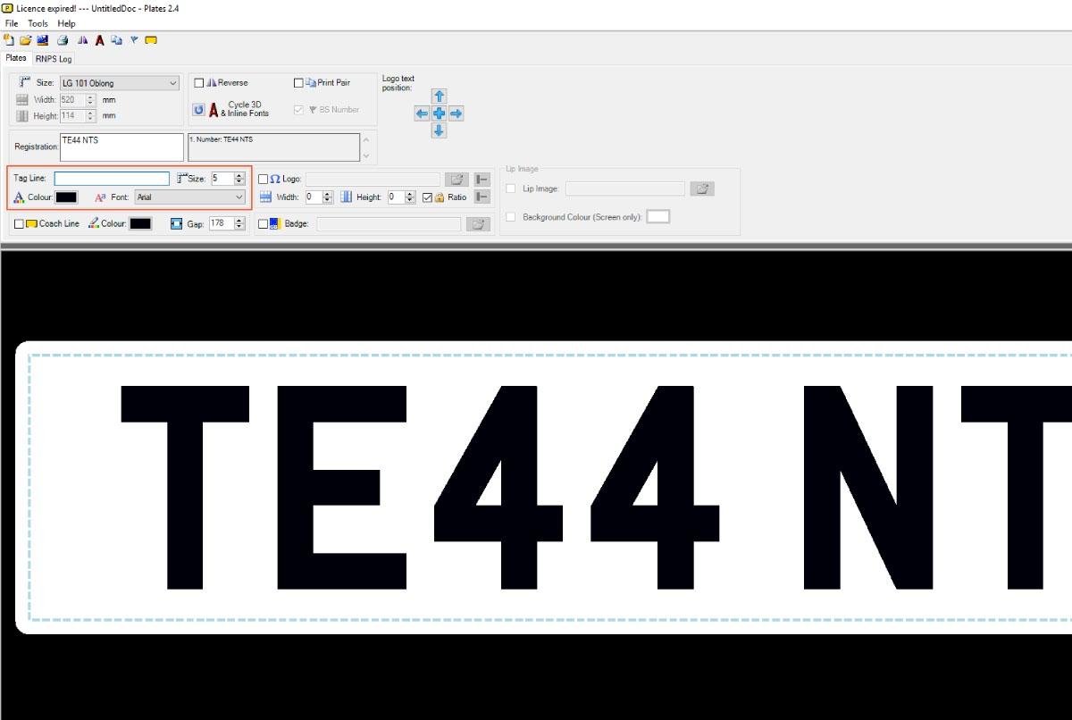 LG Plates - Insert Tag Line Text