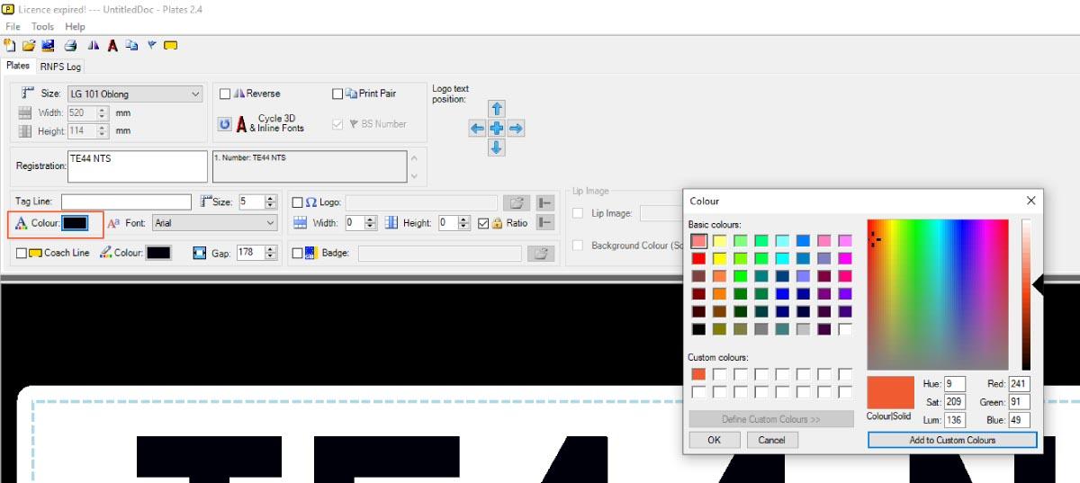 Pick a Tag Line Colour
