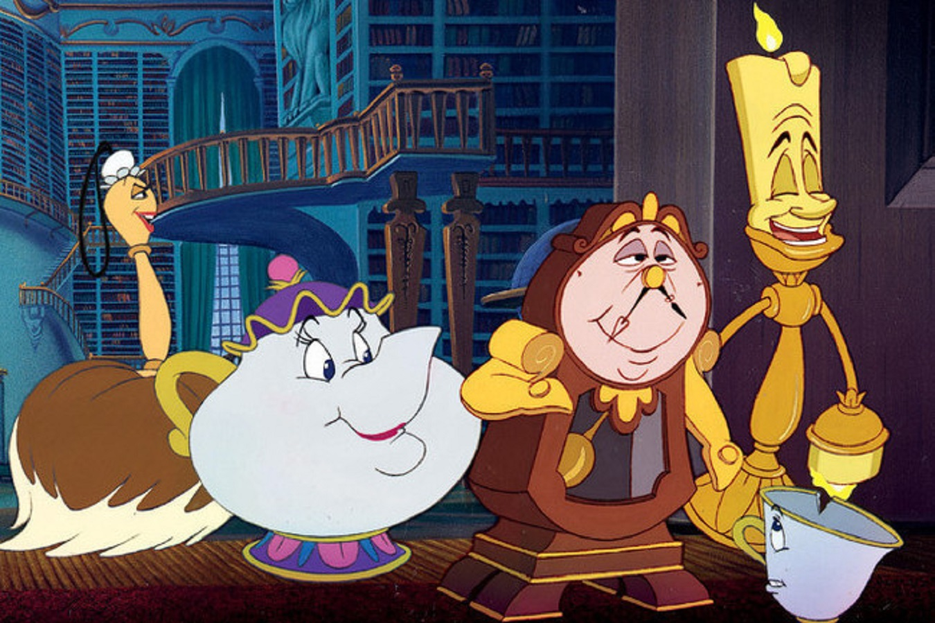 Cartoon characters from Beauty & the Beast