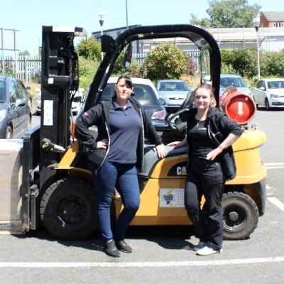 Lisa and Wieslawa, New Forklift Drivers