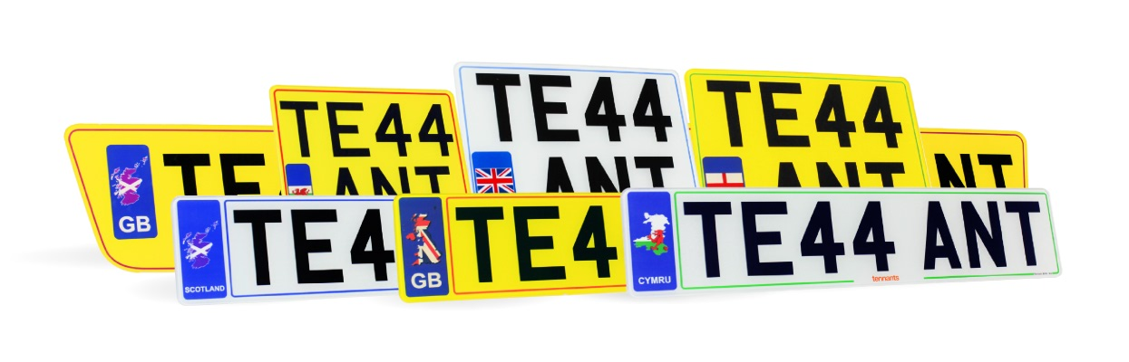 Colour Hybrid number plates