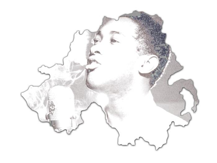 Sam Cooke overlaid the Northern Ireland Map