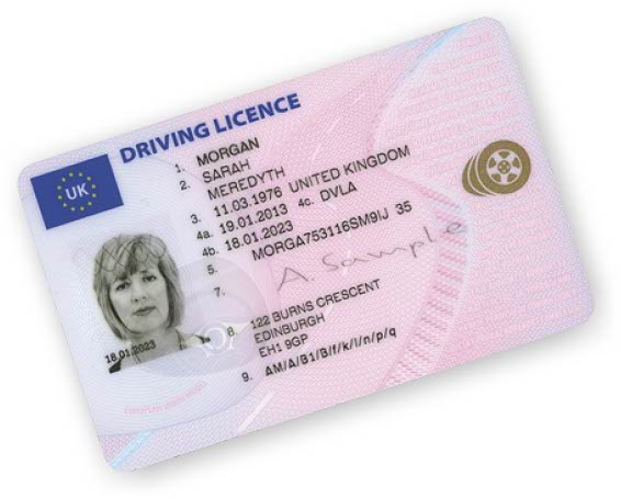 A Sample driving licence