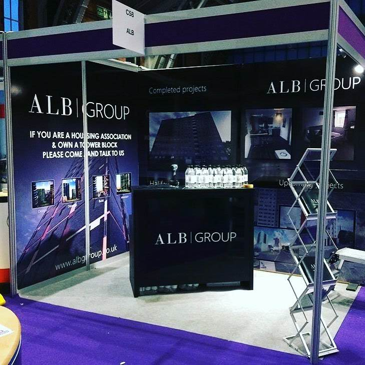 ALB Group - exhibition stand & display posters