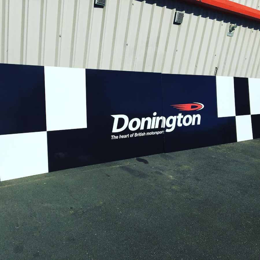 Checkered Flag Hoarding for Donington Park Circuit