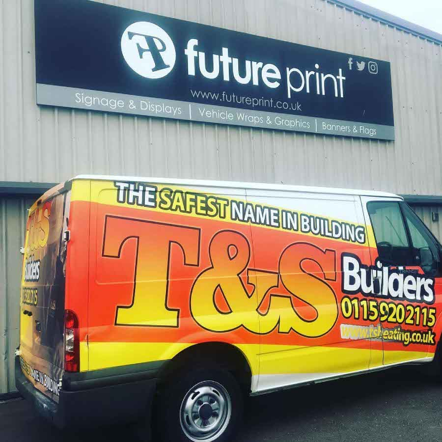 Full vehicle graphics for T&S Builders