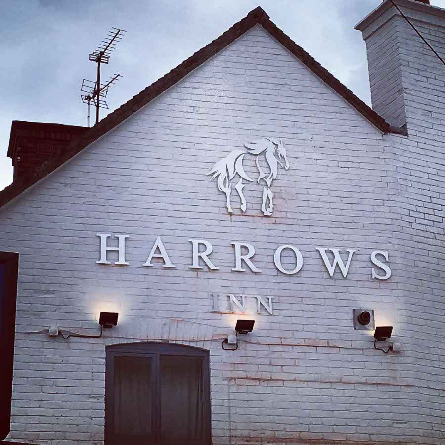 Harrows Inn - stand off stainless steel letters & logo