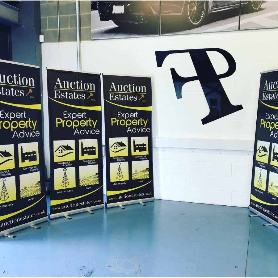 Pull up banners for Auction Estates