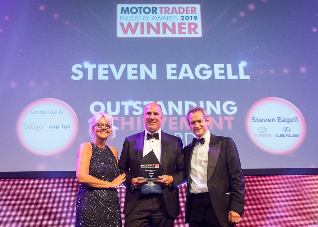 Steven Eagell receives outstanding achievement award
