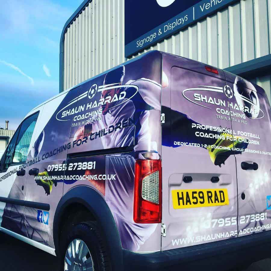 Van Wrap and Decals for Shaun Harrad Coaching
