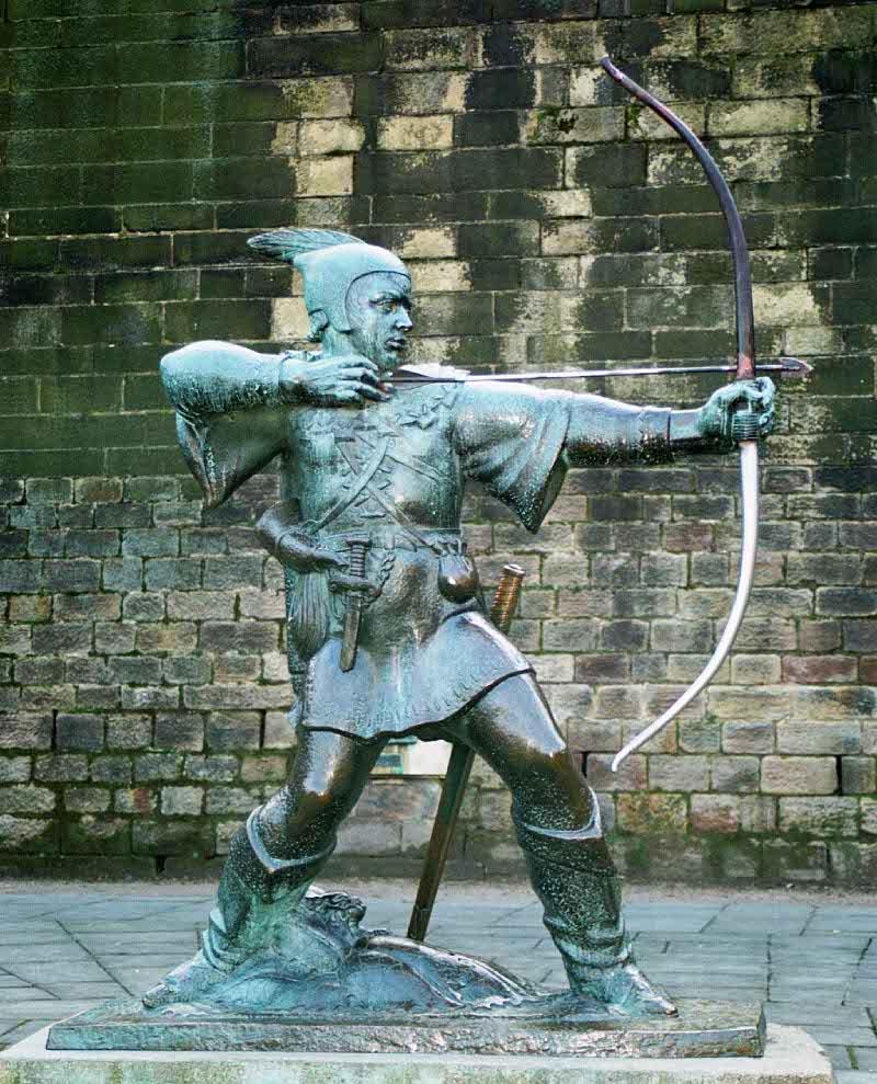 Robin Hood memorial statue