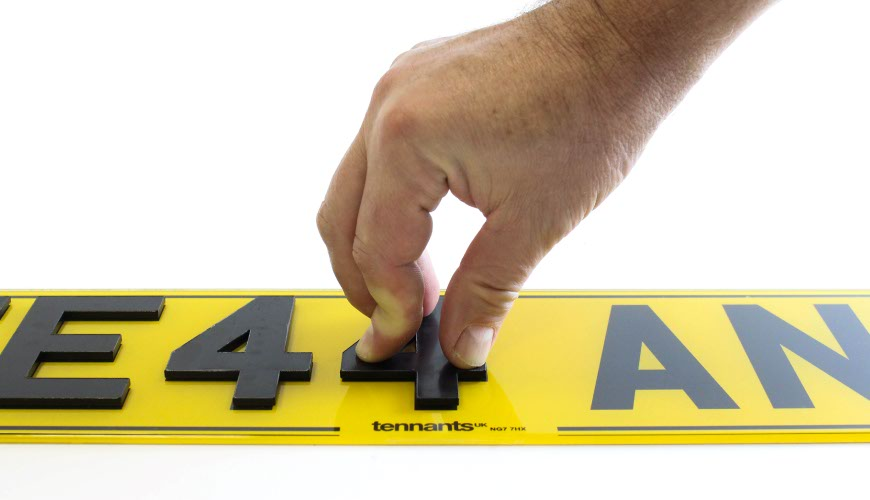 Apply 3D Digit to the number plate