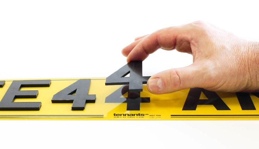 Our True 3D Number Plate Guide shows how to fit digits