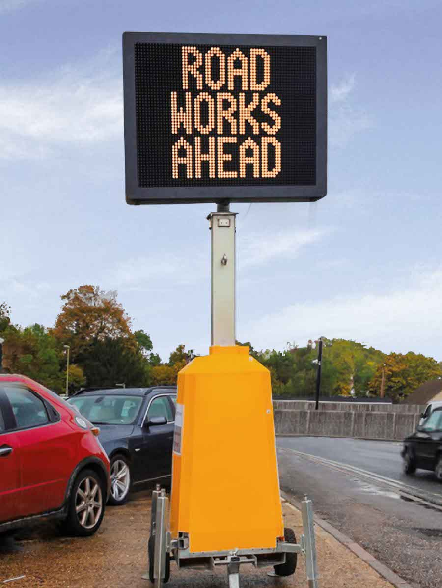 A mobile digital road sign from Tennants UK
