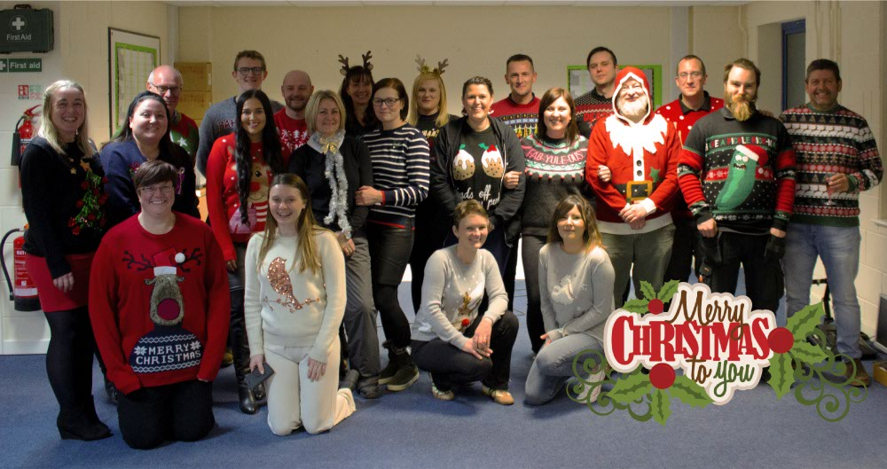 Christmas Jumpers and Pink Beards - for the charity Maggies
