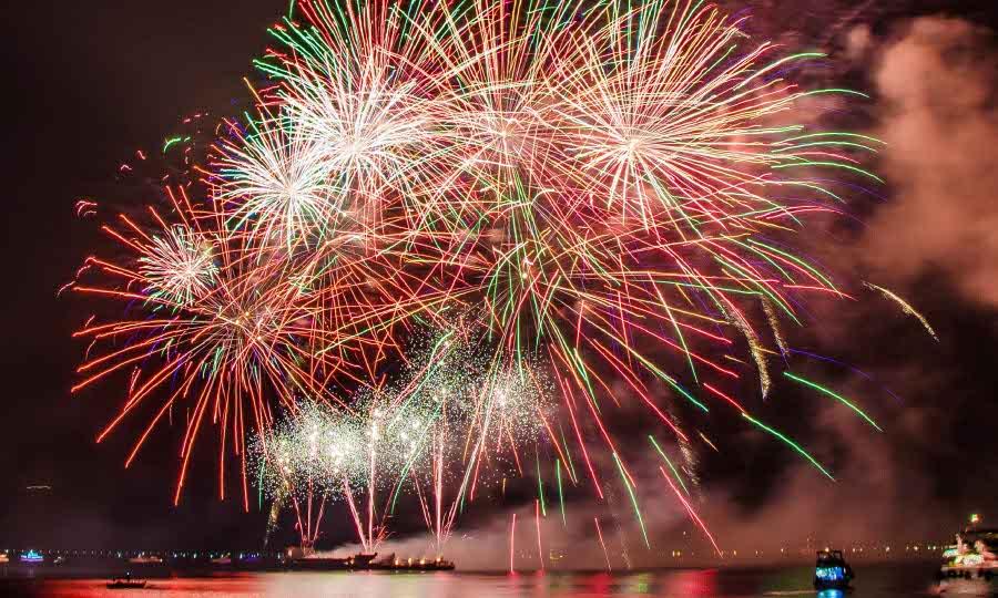 Happy New Year 2020 - fireworks display