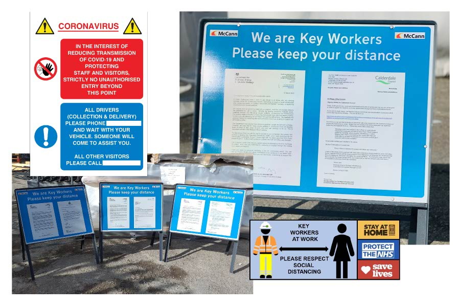 Tennantsuk Covid-19 signs for key workers
