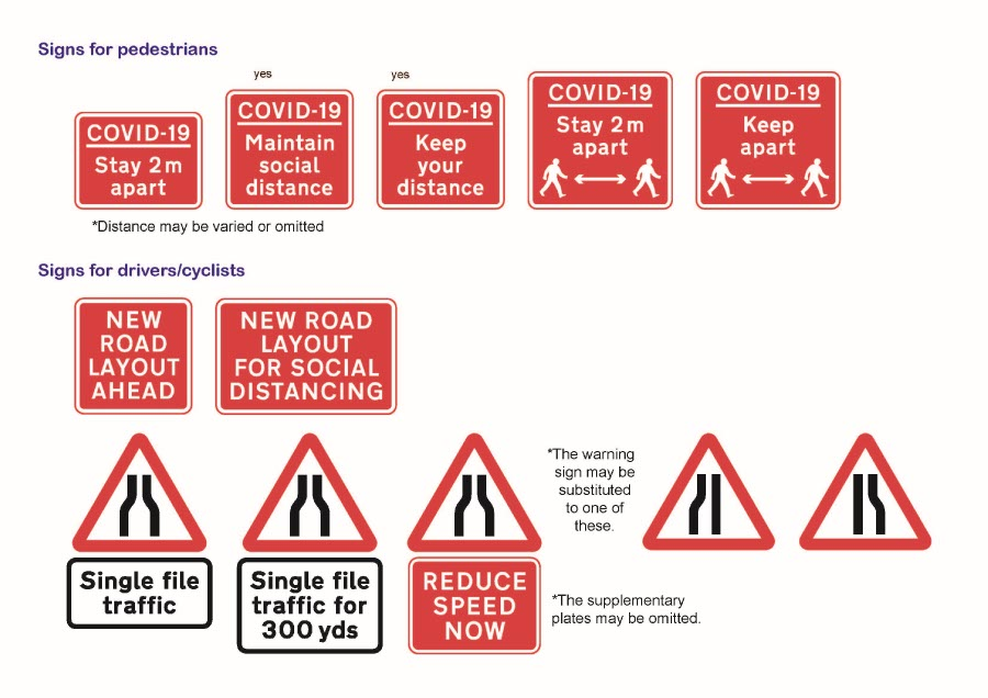DFT Covid-19 Traffic-Signs