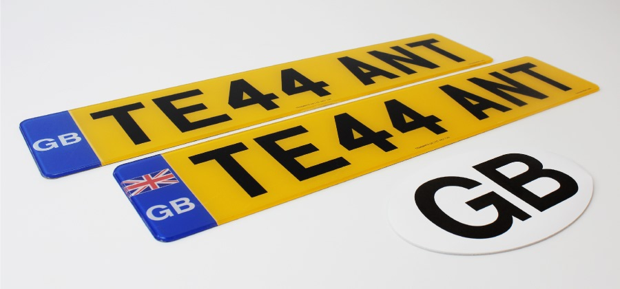 Sticker with Us for GB number plate news