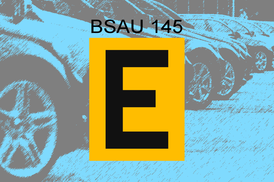 E for Enforcement and Number Plates