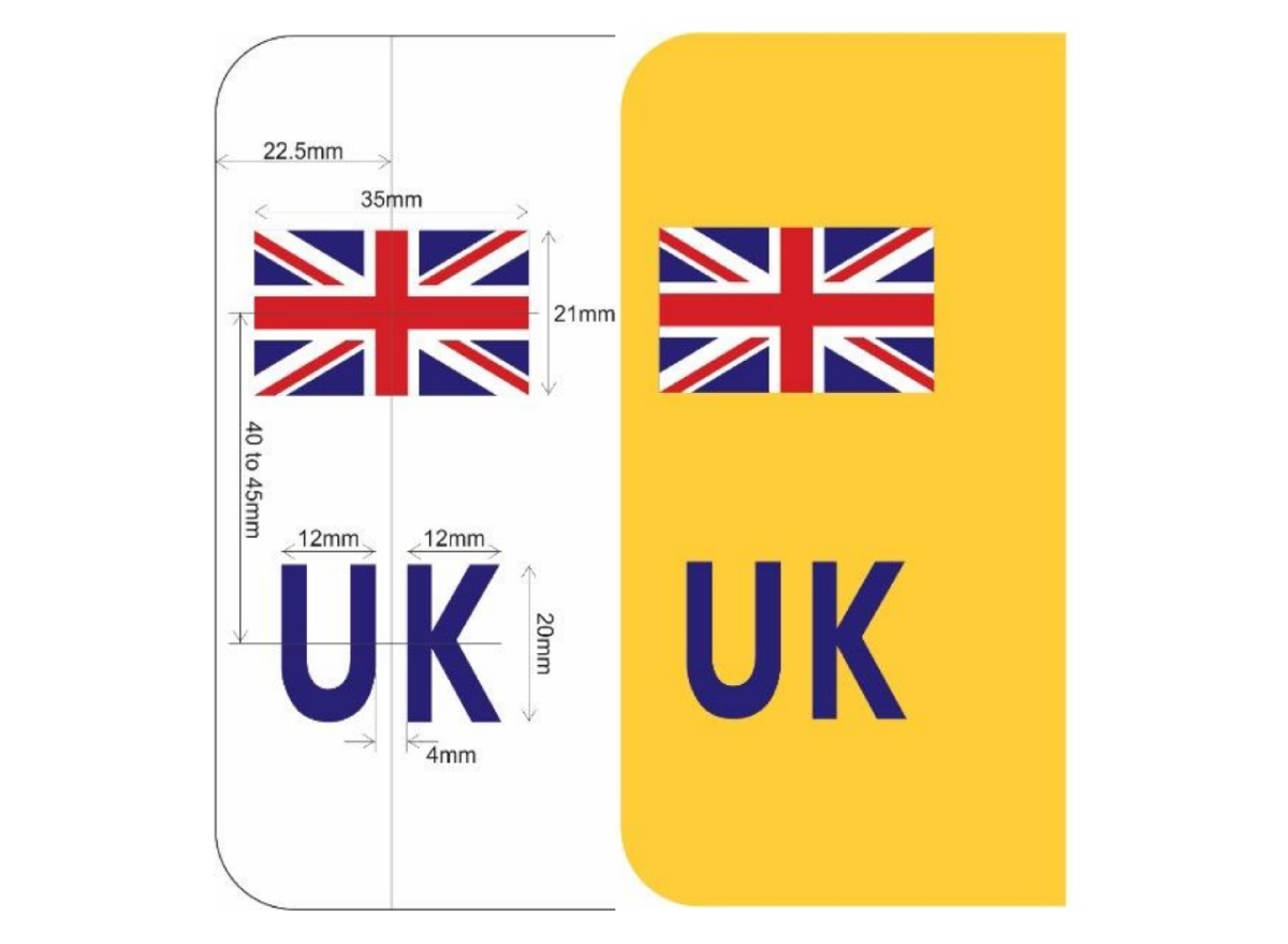 Overseas Travel Friendly Side Badges - just don't forget to drive on the right